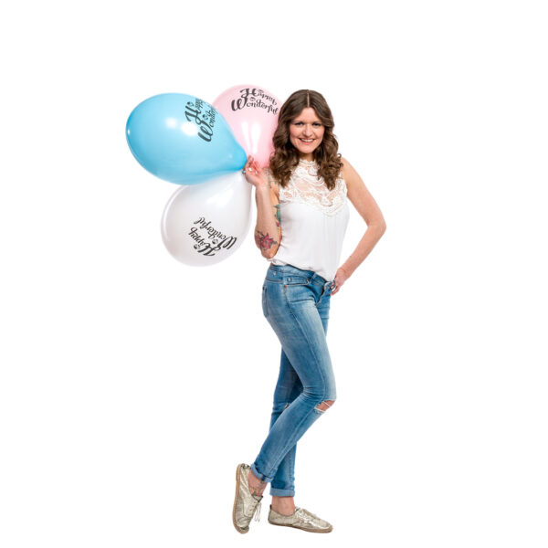 "BALLOONS UNITED - BELBAL Round Balloon 14"" (38cm) Be Happy Be Wonderful"
