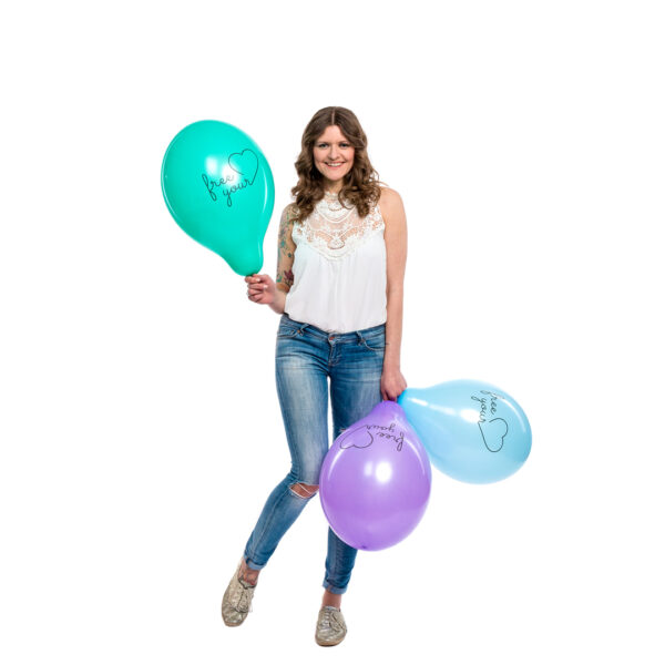 "BALLOONS UNITED - BELBAL Round Balloon 14"" (38cm) Free Your Heart"
