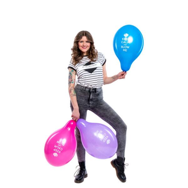 "BALLOONS UNITED - BELBAL Round Balloon 14"" (38cm) Keep Calm & Blow Me"