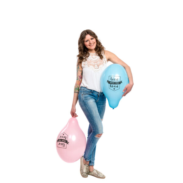 "BALLOONS UNITED - BELBAL Round Balloon 14"" (38cm) Live What You Love"