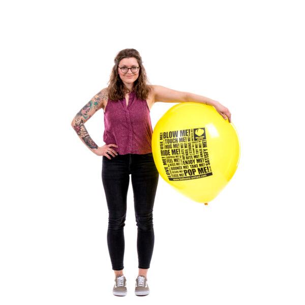 "BALLOONS UNITED - BELBAL Round Balloon 24"" (60cm) B250 The Looner"