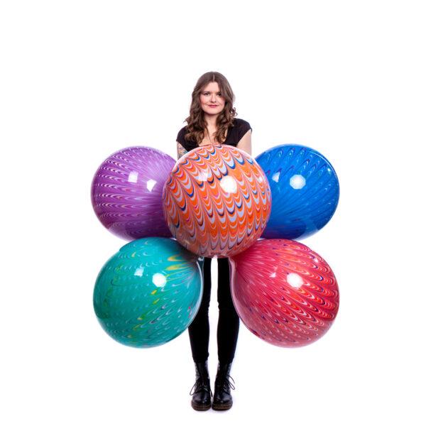 "BALLOONS UNITED - BWS Round Balloon 18"" (46cm) Peacock"