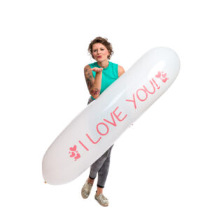 "BALLOONS UNITED - CATTEX Airship Balloon 67"" (170cm) GL500 I Love You"