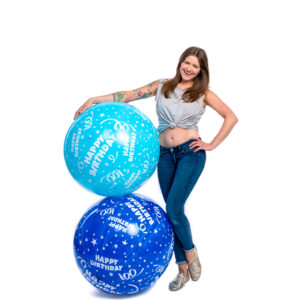 "BALLOONS UNITED - CATTEX Giant Balloon 32"" (80cm) Happy Birthday"
