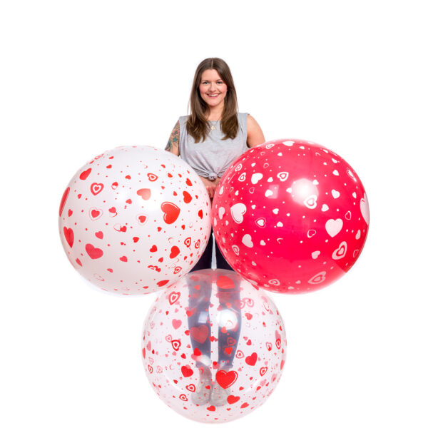 "BALLOONS UNITED - CATTEX Giant Balloon 32"" (80cm) Hearts"
