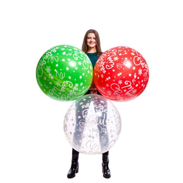 "BALLOONS UNITED - CATTEX Giant Balloon 32"" (80cm) Merry Christmas"