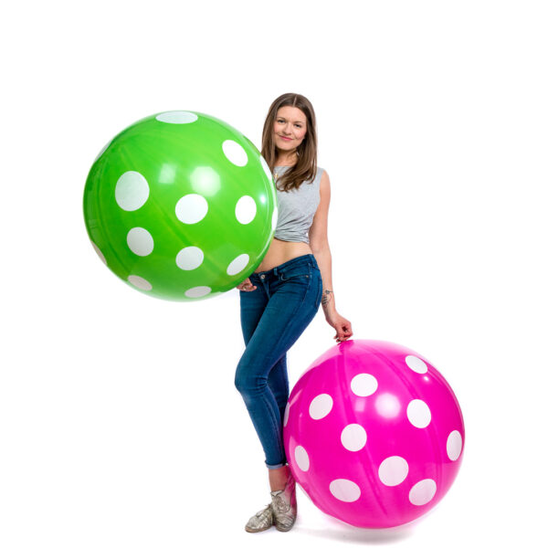 "BALLOONS UNITED - CATTEX Giant Balloon 32"" (80cm) Polka Dots"