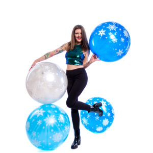 "BALLOONS UNITED - CATTEX Giant Balloon 32"" (80cm) Snowflakes"