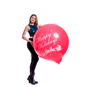 "BALLOONS UNITED - CATTEX Giant Balloon 36"" (90cm) Happy Holidays"