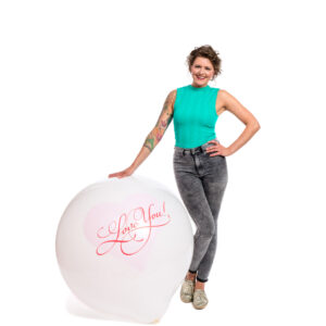 "BALLOONS UNITED - CATTEX Giant Balloon 36"" (90cm) Love You With Heart"