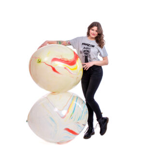 "BALLOONS UNITED - CATTEX Giant Balloon 36"" (90cm) Marble"