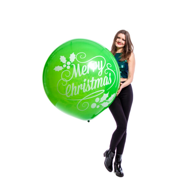 "BALLOONS UNITED - CATTEX Giant Balloon 36"" (90cm) Merry Christmas"