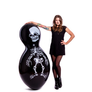 "BALLOONS UNITED - CATTEX Giant Figure Balloon 67"" (170cm) Doll Skeleton"