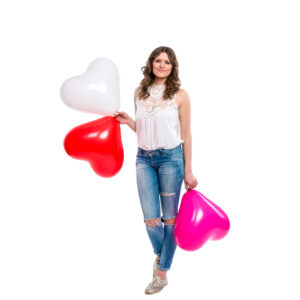 "BALLOONS UNITED - CATTEX Heart Balloon 17"" (43cm)"