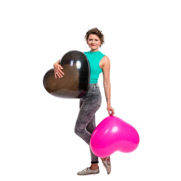 "BALLOONS UNITED - CATTEX Heart Balloon 24"" (60cm)"
