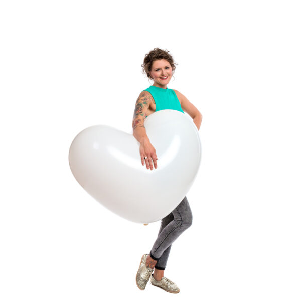 "BALLOONS UNITED - CATTEX Heart Balloon 36"" (90cm)"