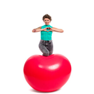 "BALLOONS UNITED - CATTEX Heart Balloon 55"" (140cm)"