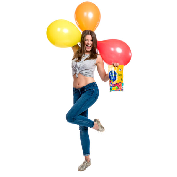 """BALLOONS UNITED - GLOBOS Round Balloon 14"""" (38cm) Standard Colormix - Bag of 100pcs"""