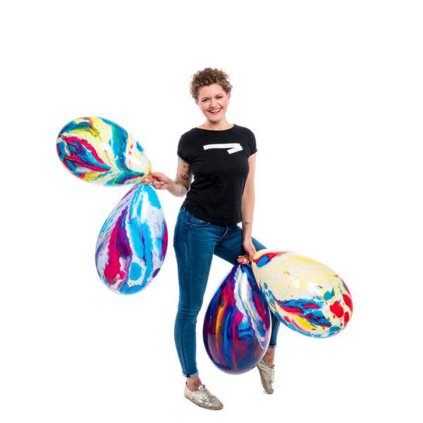 "BALLOONS UNITED - GLOBOS Round Balloon 15"" (39cm) Marble"