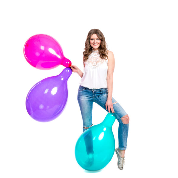 "BALLOONS UNITED - GLOBOS Round Balloon 16"" (40cm) Crystal"