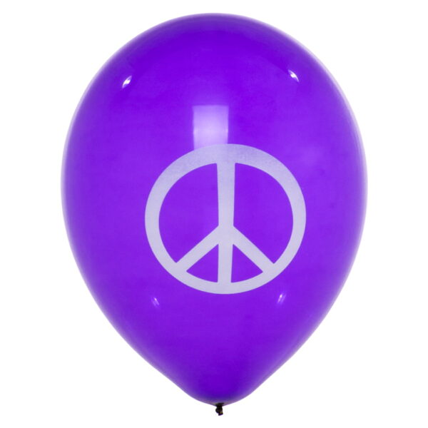 "BALLOONS UNITED - GLOBOS Round Balloon 16"" (40cm) Peace"