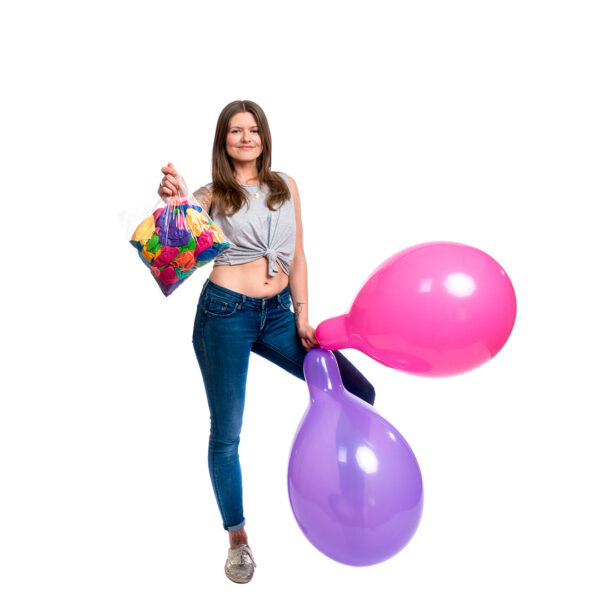 "BALLOONS UNITED - GLOBOS Round Balloon 16"" (40cm) Standard Colormix - Bag of 100pcs"