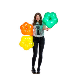"BALLOONS UNITED - QUALATEX Geo Blossom 16"" (40cm) Crystal"