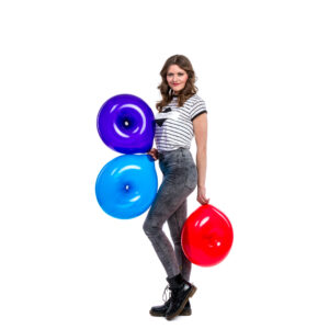"BALLOONS UNITED - QUALATEX Geo Donut 16"" (40cm) Crystal"