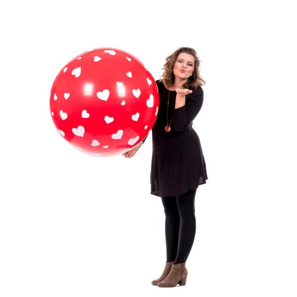 "BALLOONS UNITED - QUALATEX Stuffer Balloon 18"" (46cm) Big Hearts"