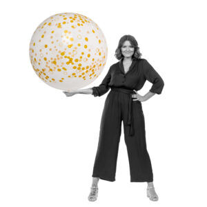 "BALLOONS UNITED - QUALATEX Giant Balloon 36"" (90cm) Confetti"