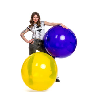 "BALLOONS UNITED - QUALATEX Giant Balloon 36"" (90cm) Crystal"