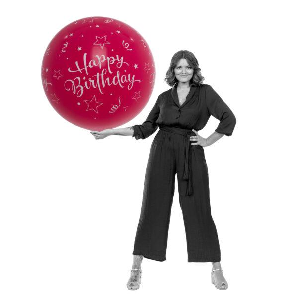 "BALLOONS UNITED - QUALATEX Giant Balloon 36"" (90cm) Happy Birthday"