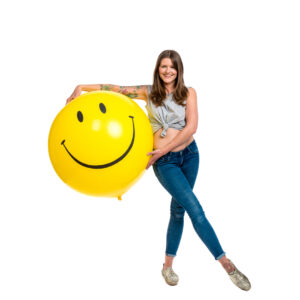 "BALLOONS UNITED - QUALATEX Giant Balloon 36"" (90cm) Smiley"