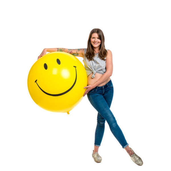 "BALLOONS UNITED - QUALATEX Giant Balloon 36"" (90cm) Smiley"