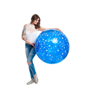 "BALLOONS UNITED - QUALATEX Giant Balloon 36"" (90cm) Stars Around"