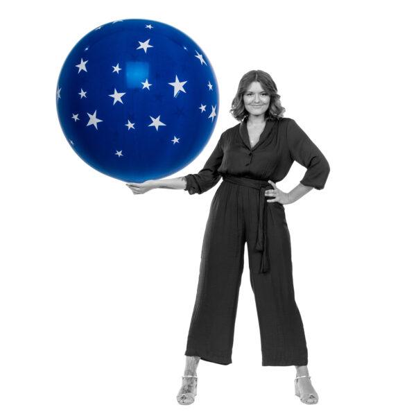 "BALLOONS UNITED - QUALATEX Giant Balloon 36"" (90cm) Stars"