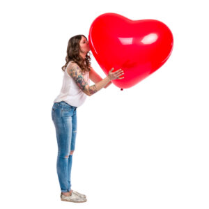 "BALLOONS UNITED - QUALATEX Heart Balloon 36"" (90cm)"