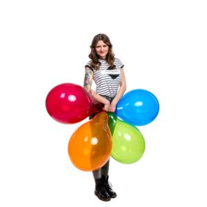 "BALLOONS UNITED - QUALATEX Round Balloon 16"" (40cm) Crystal"