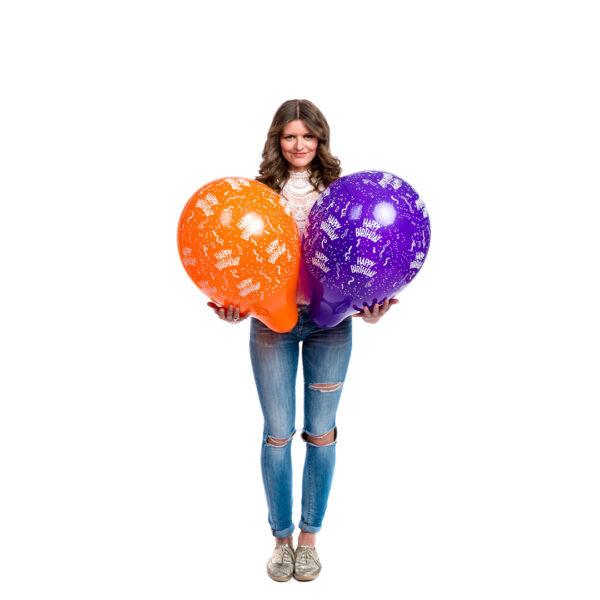 "BALLOONS UNITED - QUALATEX Round Balloon 16"" (40cm) Happy Birthday"