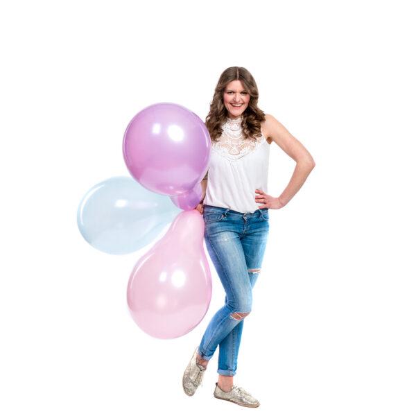"BALLOONS UNITED - QUALATEX Round Balloon 16"" (40cm) Pearl"