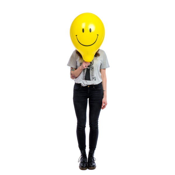 "BALLOONS UNITED - QUALATEX Round Balloon 16"" (40cm) Smiley"