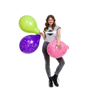 "BALLOONS UNITED - QUALATEX Round Balloon 16"" (40cm) Stars Around"