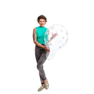 "BALLOONS UNITED - QUALATEX Stuffer Balloon 18"" (46cm) Big Stars"