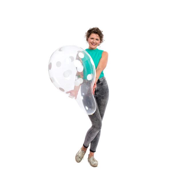 "BALLOONS UNITED - QUALATEX Stuffer Balloon 18"" (46cm) Polka Dots"