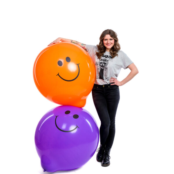 "BALLOONS UNITED - TUFTEX Giant Balloon 36"" (90cm) Smiley"