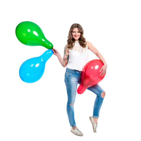 "BALLOONS UNITED - TUFTEX Round Balloon 14"" (38cm) Crystal"