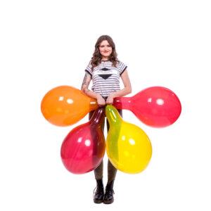"BALLOONS UNITED - TUFTEX Round Balloon 17"" (43cm) Crystal"
