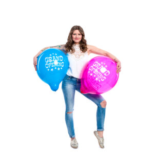 "BALLOONS UNITED - TUFTEX Round Balloon 17"" (43cm) Grand Opening"