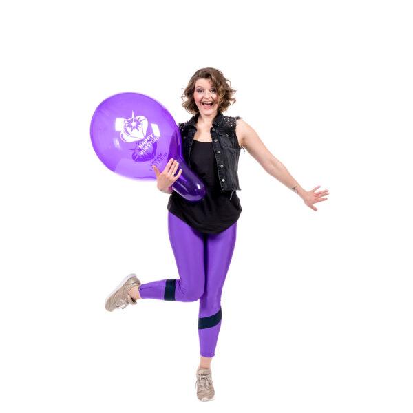 "BALLOONS UNITED - TUFTEX Round Balloon 17"" (43cm) Happy Burstday"