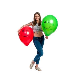 "BALLOONS UNITED - TUFTEX Round Balloon 17"" (43cm) Winking Smiley"